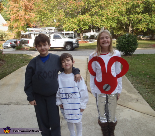 Rock, Paper, Scissors - Homemade costumes for kids