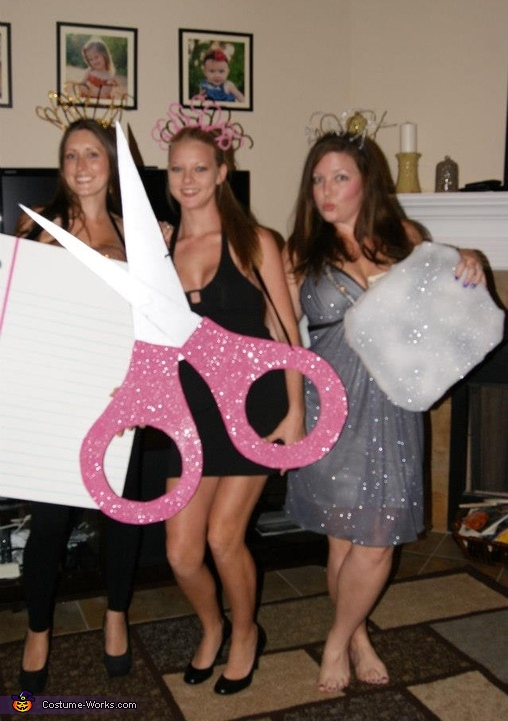 Rock, Paper, Scissors Group Costume