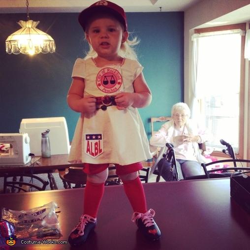 Rockford Peach Baseball Player Homemade Costume  sc 1 st  Costume Works & Rockford Peach Baseball Player Costume - Photo 2/3