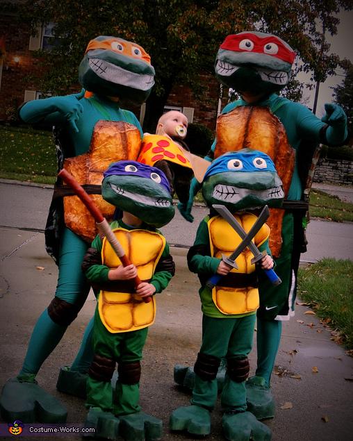 Rockin' Ninja Turtles Family Costume