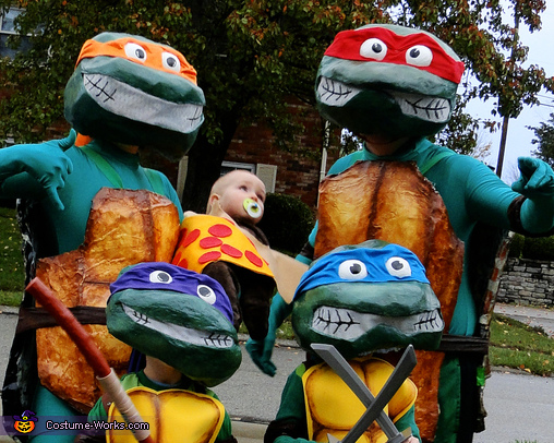 Rockin' Ninja Turtles Homemade Costume