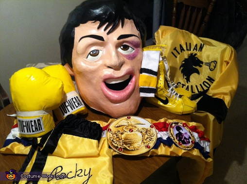 All the pieces of the Rocky costume completed., Rocky and Mr.T Homemade Costumes