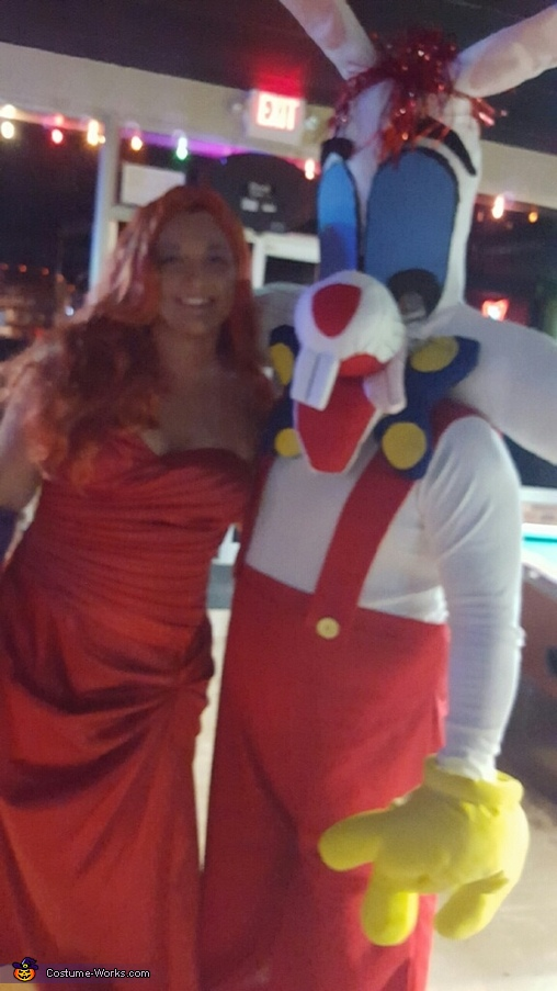 Roger and Jessica Rabbit Costume