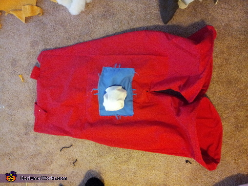 Heres the Pants with the butt patch and tail sewn on!, Roger Rabbit Costume