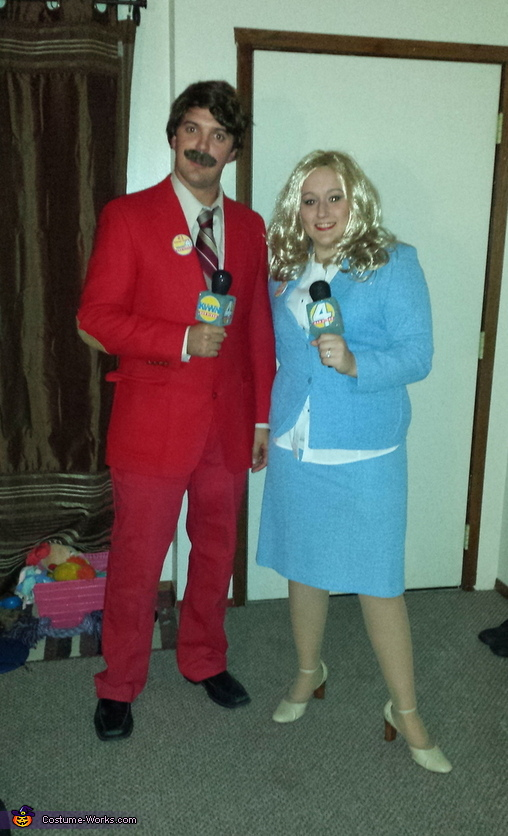Ron Burgundy and Veronica Corningstone Costume