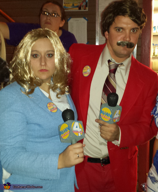 Ron Burgundy and Veronica Corningstone Homemade Costume