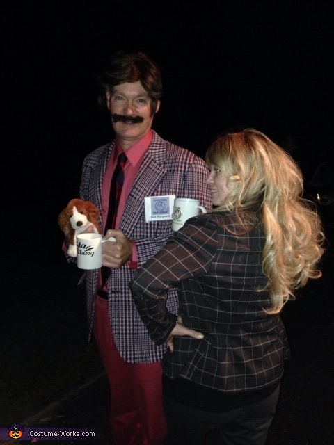Ron Burgundy and Veronica Corningstone Couple Costume
