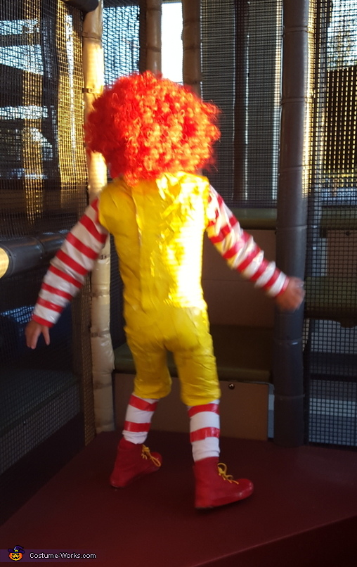 back view, Ronald McDonald Costume