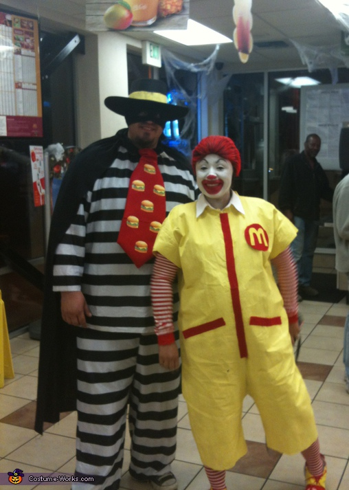 Ronald McDonald & Hamburglar - Homemade costumes for adults
