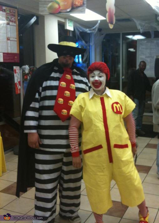 Ronald McDonald & Hamburglar Costumes