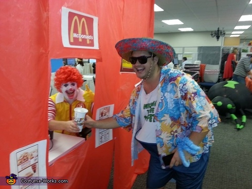 Drive Thru @ work for the trick or treaters, Ronald & Wendy Couples Costume
