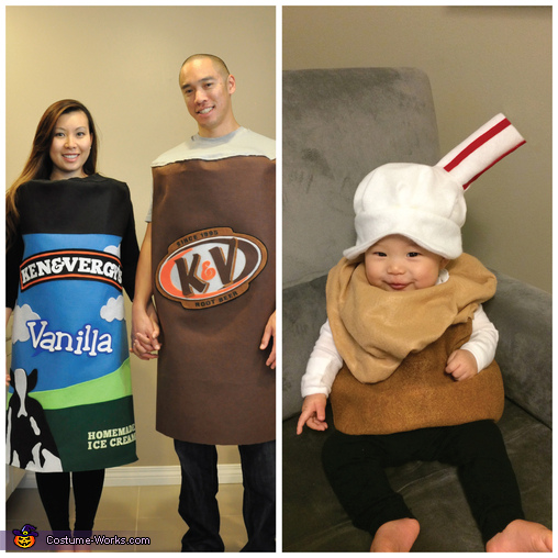 Root Beer Float Homemade Costume
