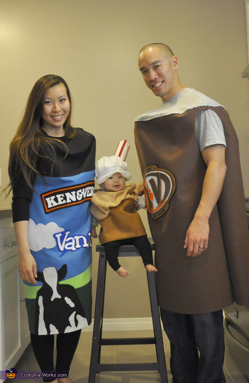 Root Beer Float Family Costume