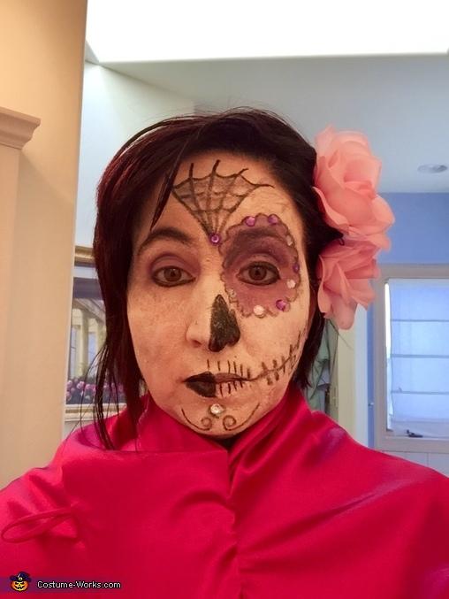 Rosa Dia de los Muertos Homemade Costume