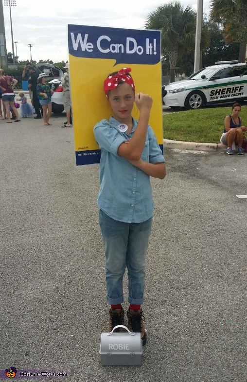 Rosie the Riveter Homemade Costume