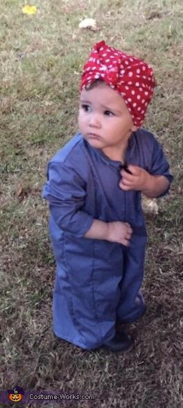 Rosie the Riveter Homemade Costume