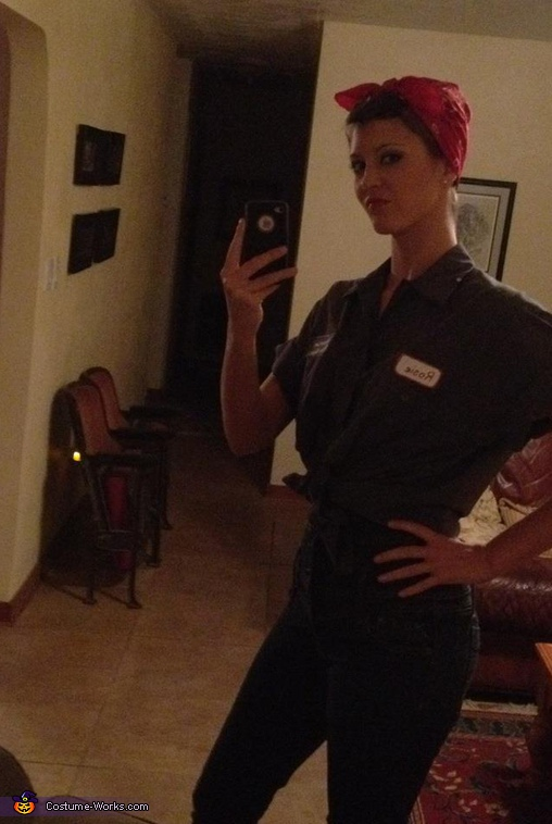Homemade Rosie the Riveter costume