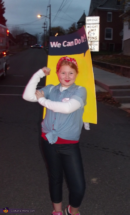 Rosie the Riveter WW2 Poster Costume
