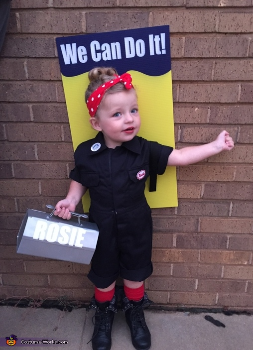 Rosie the Riveter Toddler Costume