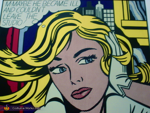 The Original, Roy Lichtenstein Pop Art Comic Book Queen Costume