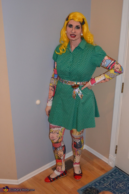 Roy Lichtenstein Pop Art Comic Girl Homemade Costume