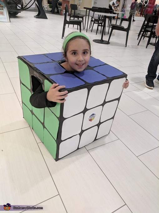 Rubik's Cube Homemade Costume