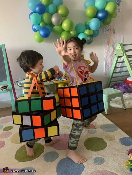Big kids can rock the same costume too!, Rubiks Cubes Costume