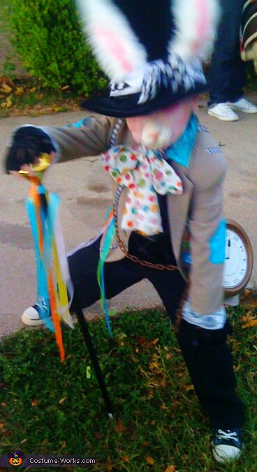 running against time!. Mad Hatter & Crazy Rabbit - Homemade costumes for kids