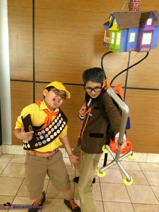Funny Pose of Carol and Russell, Russell and Mr.Fredrickson from Up Costume