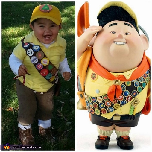 Russell and CJ. - Almost identical, Russell from Up Baby Costume