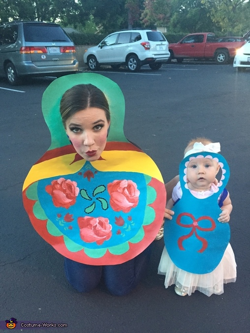 Russian Nesting Dolls Family Costume