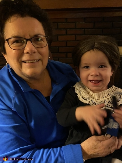 'Ruth' with grandma, Ruth Bader Ginsberg Costume