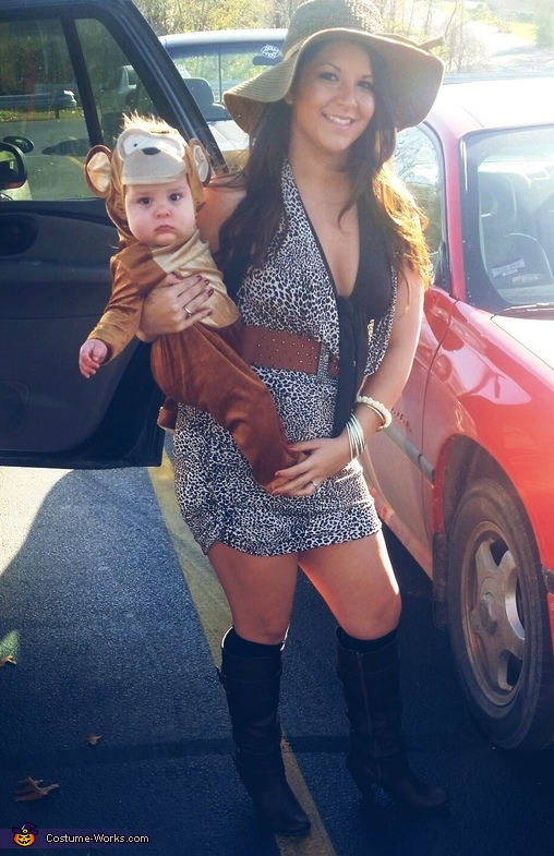 Safari Girl & Baby Monkey Costume