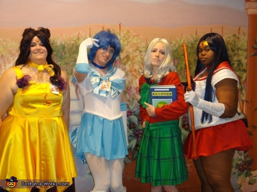My friends and I group photo together, Sailor Mars Costume