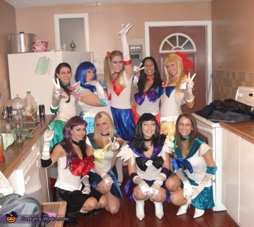 Sailor Moon and Sailor Scouts Group Costume