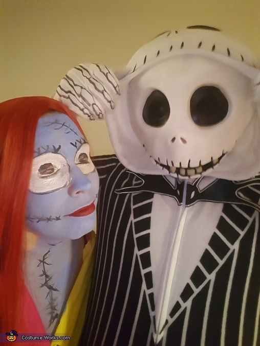 His head got cold lol, Sally and Jack Costume