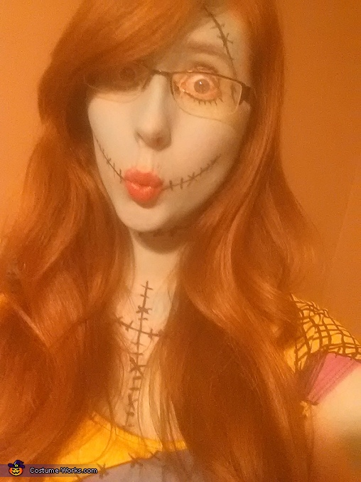 Meeee face, Sally from Nightmare Before Christmas Costume