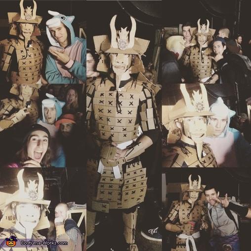Samurai Cardboard Armor Homemade Costume