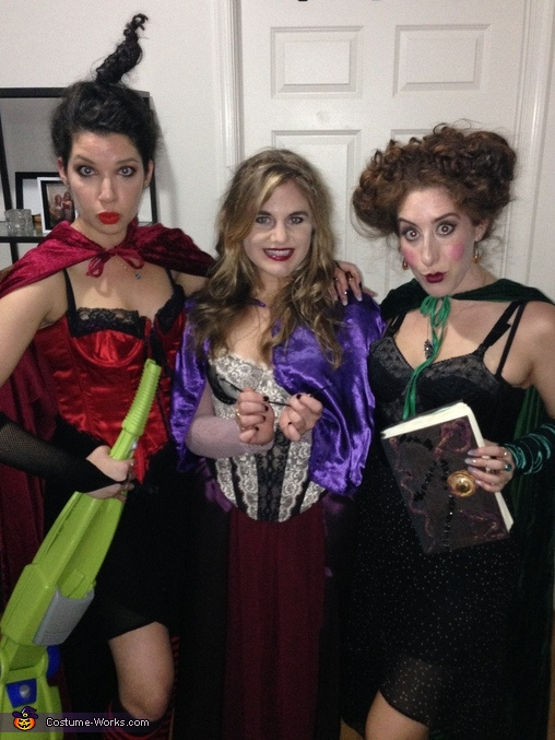 The full outfits, vacuum and spell book included!, Sanderson Sisters from Hocus Pocus Group Costume