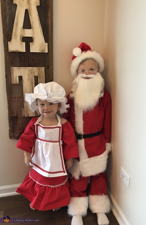 Santa and ms Claus Homemade Costume