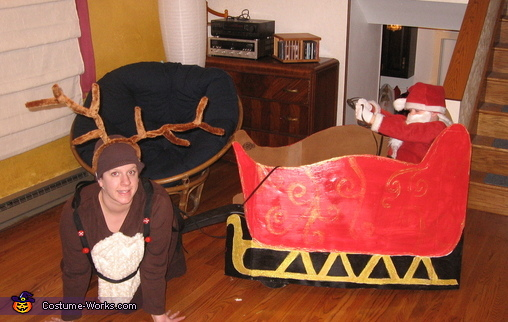 Santa & Reindeer, Santa Claus & Reindeer Costume