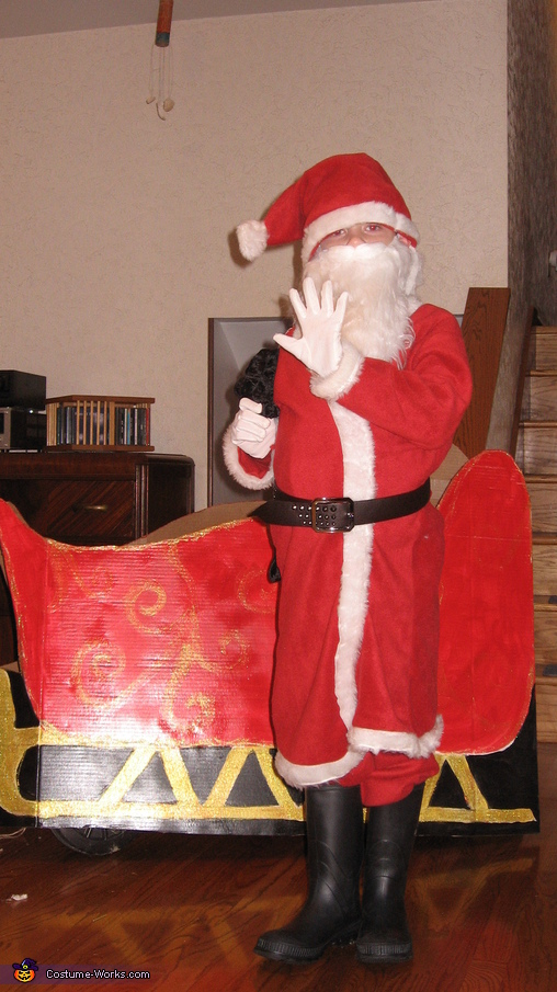 Santa and sleigh, Santa Claus & Reindeer Costume