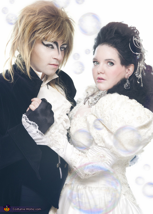 Sarah and Jareth from Labyrinth Homemade Costume