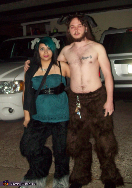 Satyr Faun Family Costume