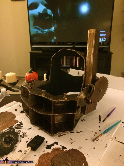 Paint job being done!, SAW Reverse Bear Trap Costume
