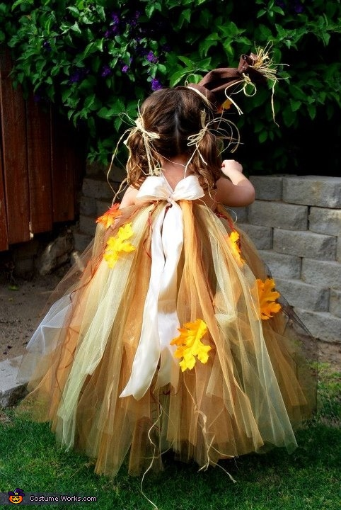 Back of costume., Scarecrow Baby Costume