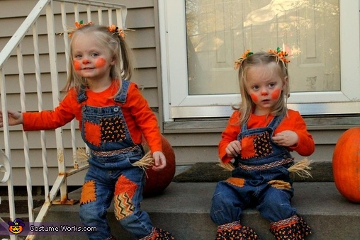 Scarecrow Twins Homemade Costume