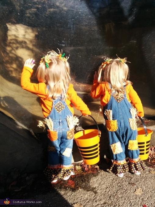Scarecrow Twins Homemade Costume