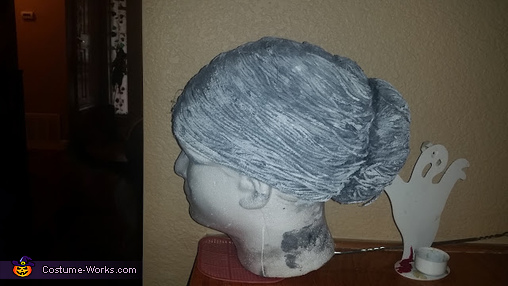 the wig, Scary Angel Statues Costume