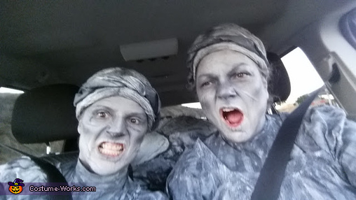 going to a family function to get opinions, Scary Angel Statues Costume